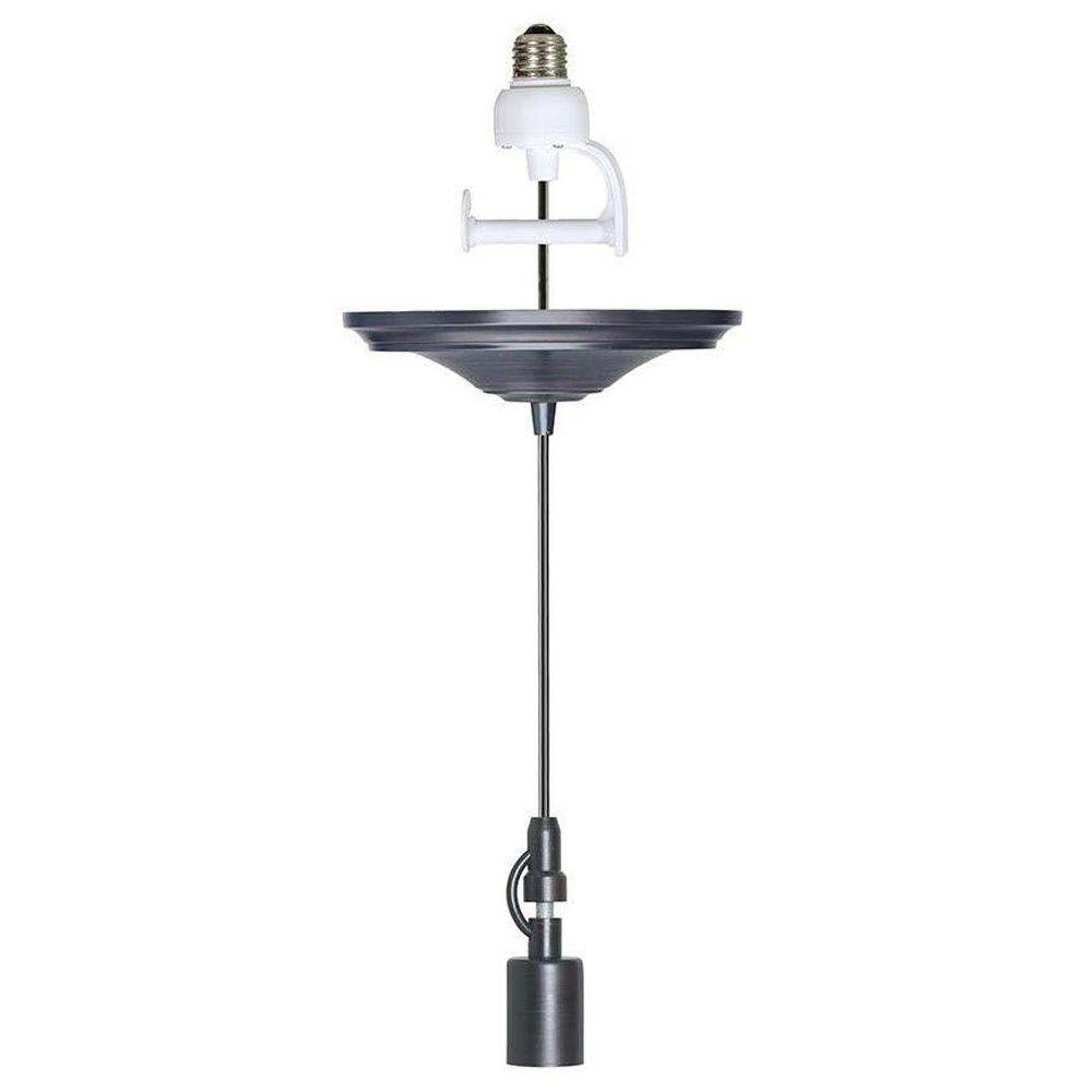 8 in. Brushed Bronze Pendant Adapter for Lamp Shades with Conversion