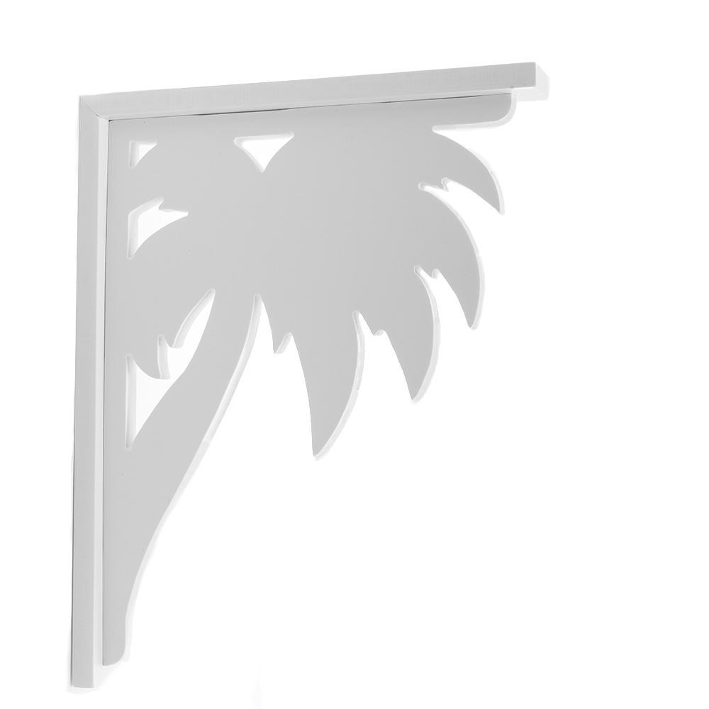 Decorative 9-1/2 in. Paintable PVC Palm Shelf Bracket