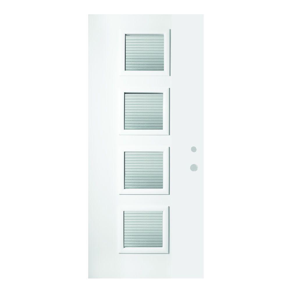 37.375 in. x 82.375 in. Evelyn Masterline 4 Lite Painted White