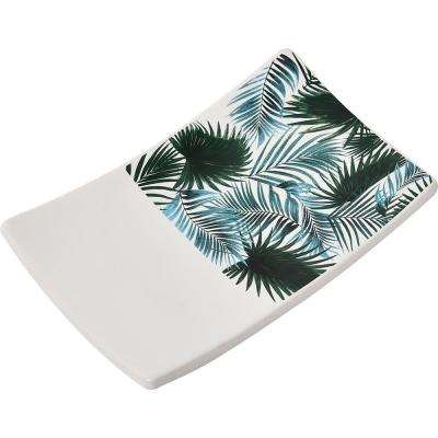 Tropical Collection Dolomite Curved Soap Dish Cup