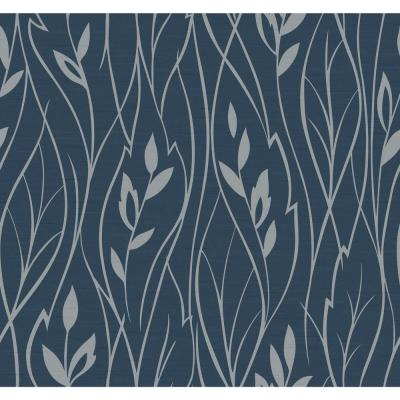 Dazzling Dimensions Leaf Silhouette Paper Strippable Roll Wallpaper (Covers 60.75 sq. ft.)