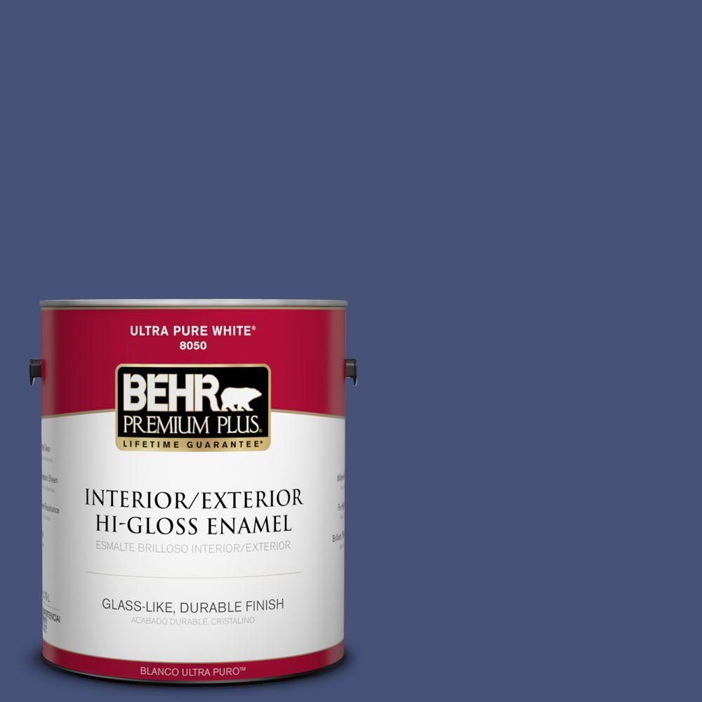 1-gal. #620D-7 Deep Indigo Hi-Gloss Enamel Interior/Exterior Paint