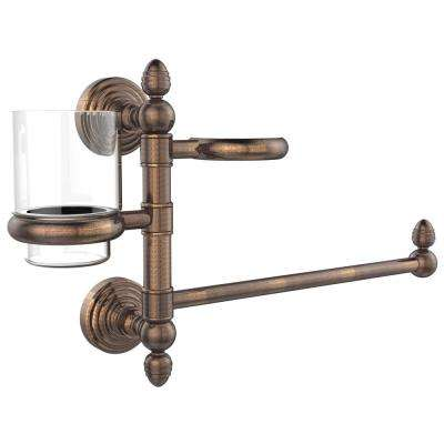 Waverly Place Collection Hair Dryer Holder and Organizer in Venetian Bronze