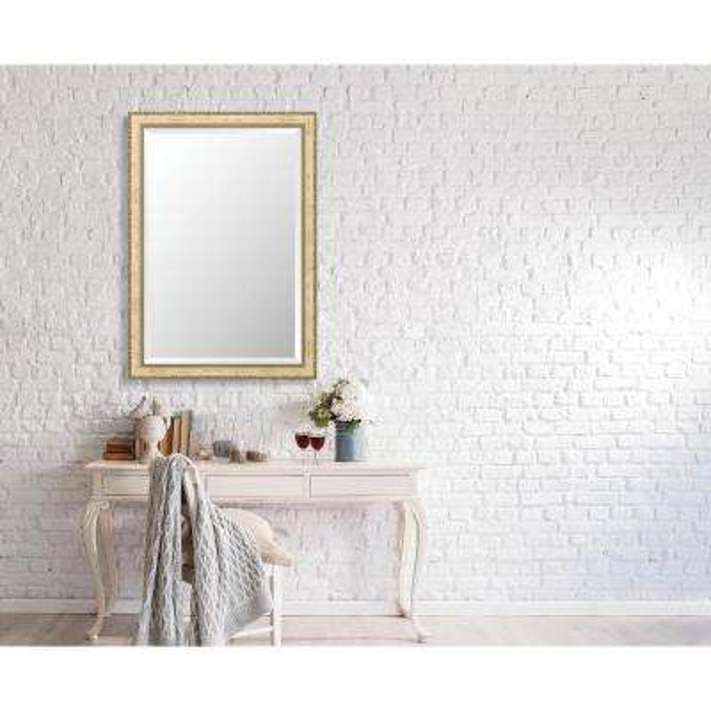 Winthrop 28.375 in. x 40.375 in. Vintage Medium Framed Bevel Mirror