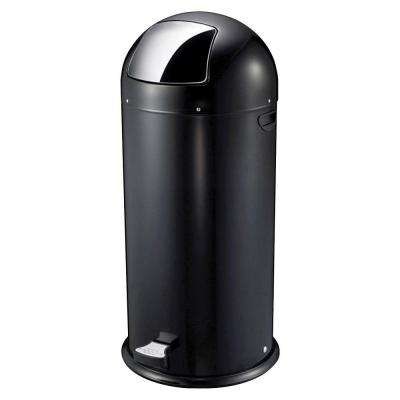 13.5 Gal. Black Round Top Pedal Trash Can