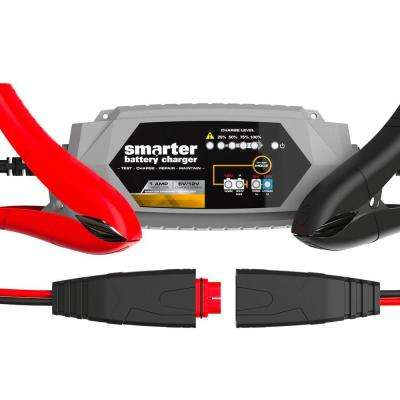 1 Amp 6-Volt to 12-Volt Automotive Battery Charger, Maintainer, Repairer, Tester with Advanced Desulphation Process