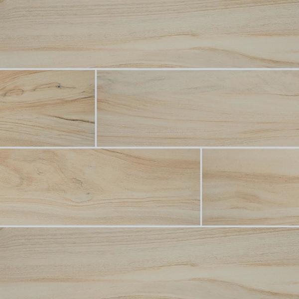 Aspenwood Artic 9 in. x 48 in. Matte Porcelain Floor and Wall Tile (12 sq. ft. / case)