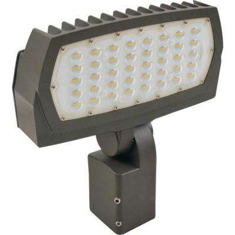 400-Watt Equivalent 150-Watt Bronze Outdoor Integrated LED Large Landscape Flood Light 120-277V Knuckle Cool White 99683