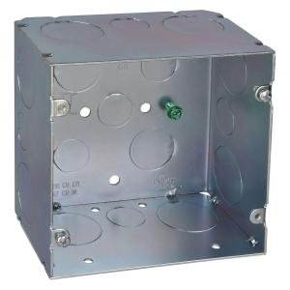 5 inch Steel Square Box with 67 cu. inch (20 per Case)