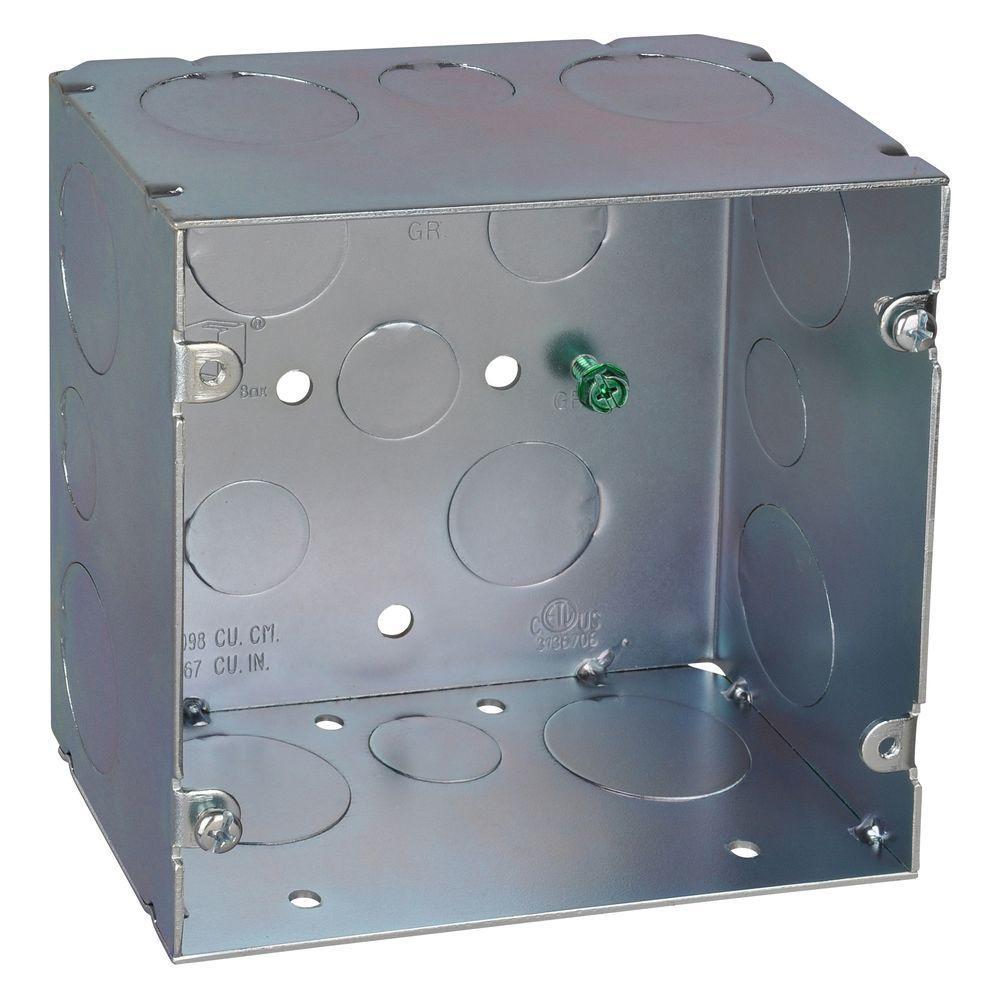5 in. Steel Square Box with 67 cu. in. (20 per Case)