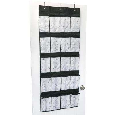 22 in. x 54 in. 20-Pocket Shoe Organizer in Marble