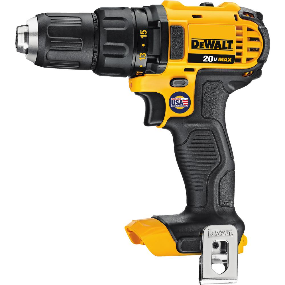 DEWALT 20-Volt MAX Lithium-Ion Cordless Compact Drill/Drill Driver on drill safety, drill press diagram, drill accessories, drill guide, drill battery, drill switch diagram, drill parts, drill pump diagram, drill motor,