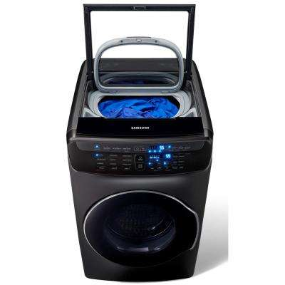 5.5 Total cu. ft. High-Efficiency FlexWash Washer in Black Stainless Steel