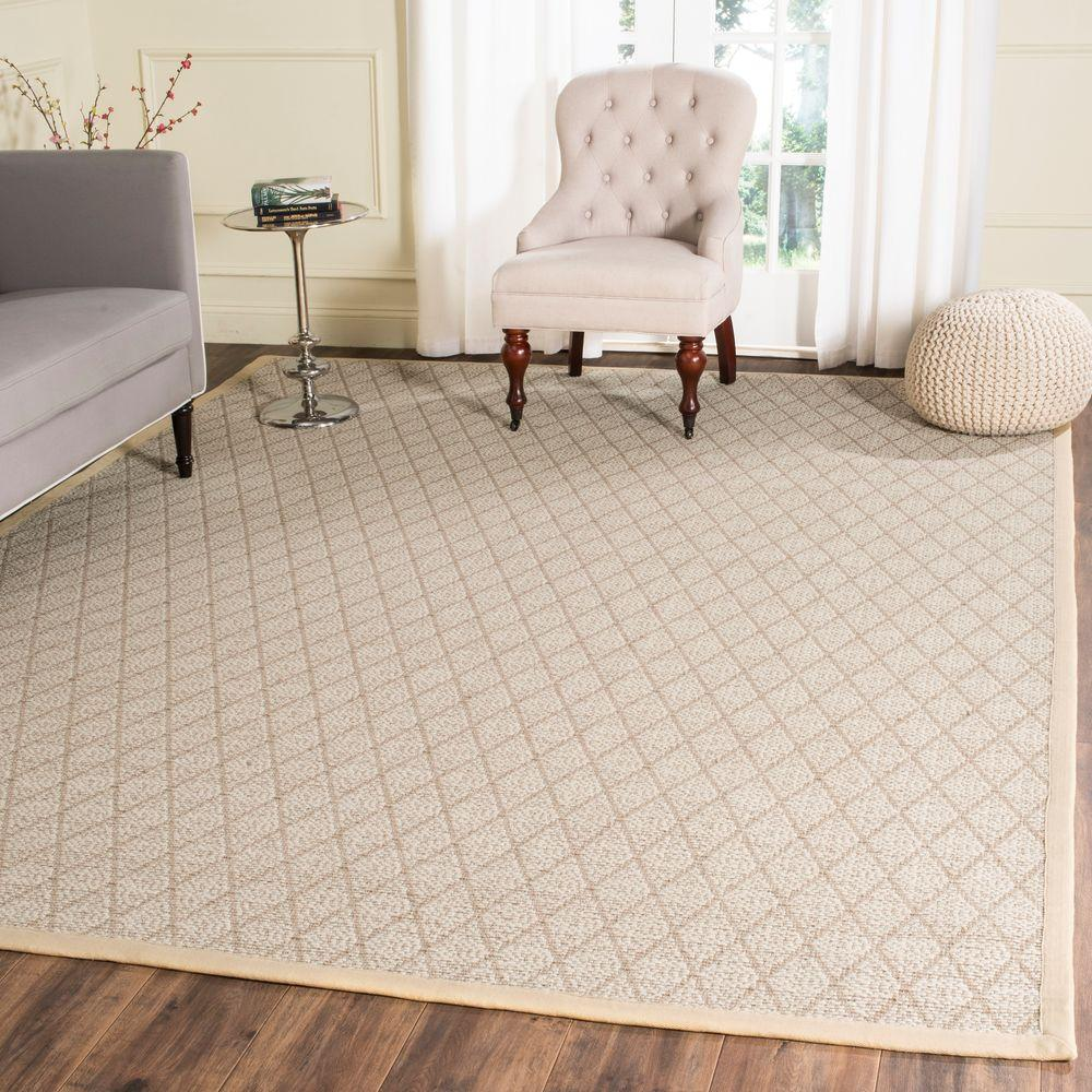 Safavieh Natural Fiber Beige 8 Ft. X 10 Ft. Area Rug