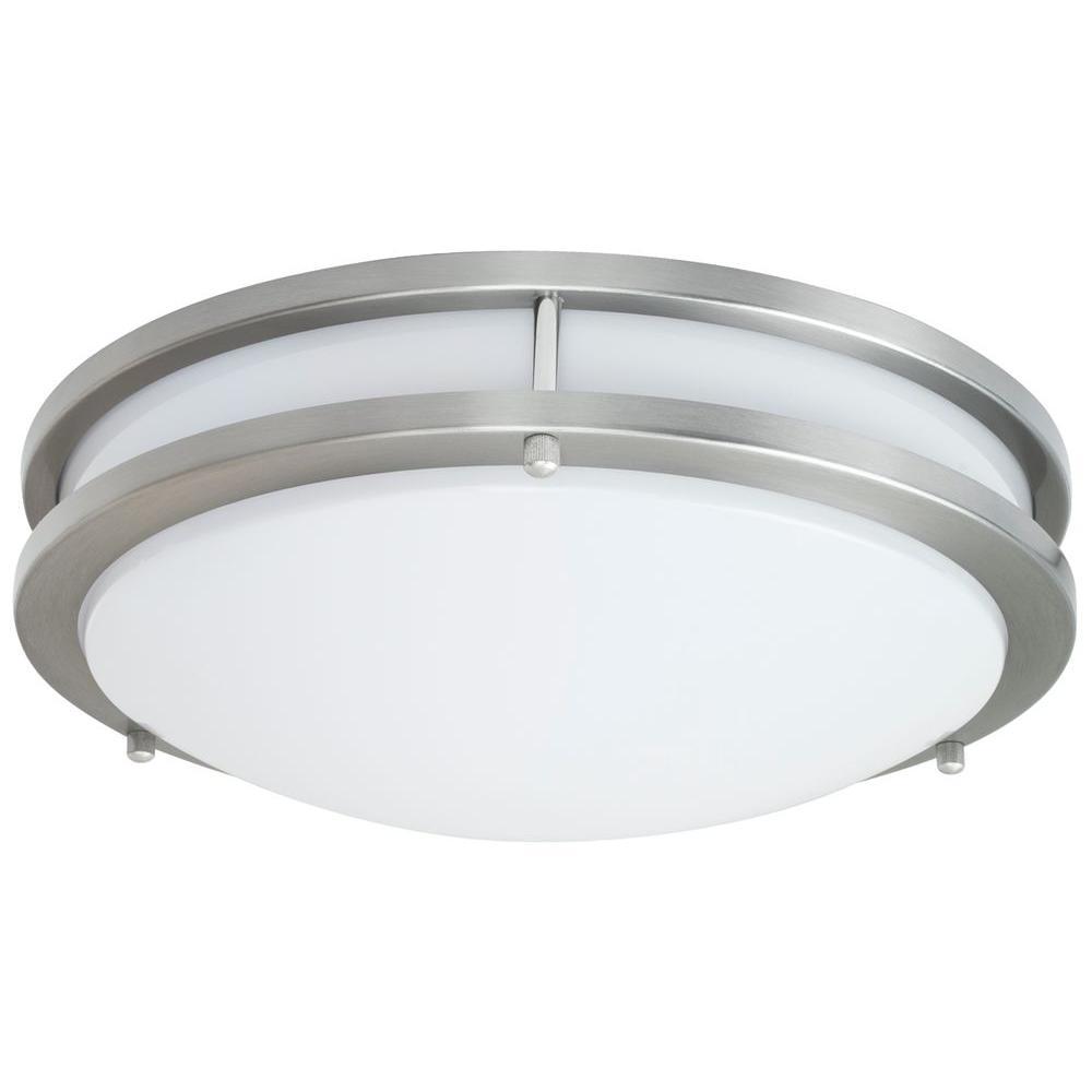 JR Brushed Nickel Indoor LED Flush Mount