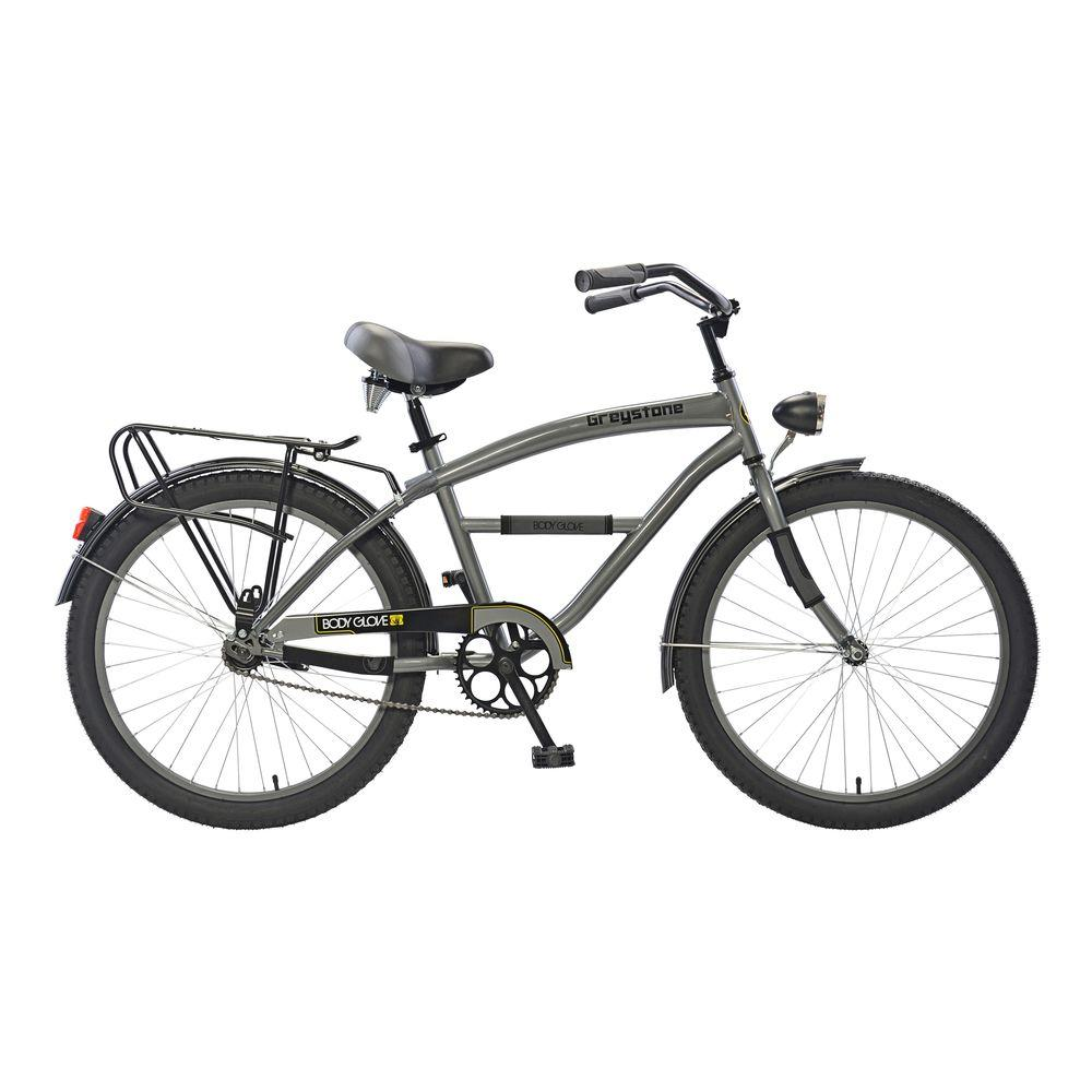 Greystone Cruiser 24 in. Wheels Oversized Frame Boy's Bike in Gunmetal