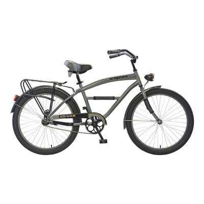 Greystone Cruiser 24 in. Wheels Oversized Frame Boy's Bike in Gunmetal Gray