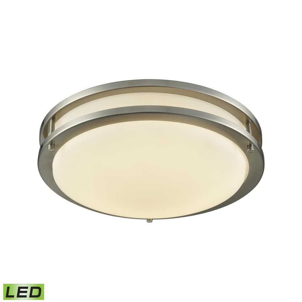 Clarion 60-Watt Brushed Nickel Integrated LED Flushmount
