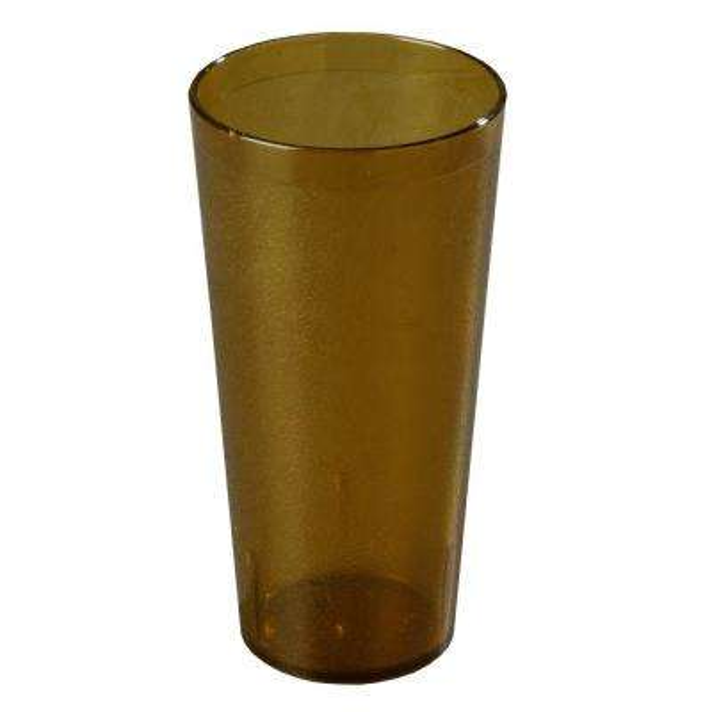 3.63 inch Diameter, 7.18 inch H SAN Plastic Tumbler in Amber (Case of 72)