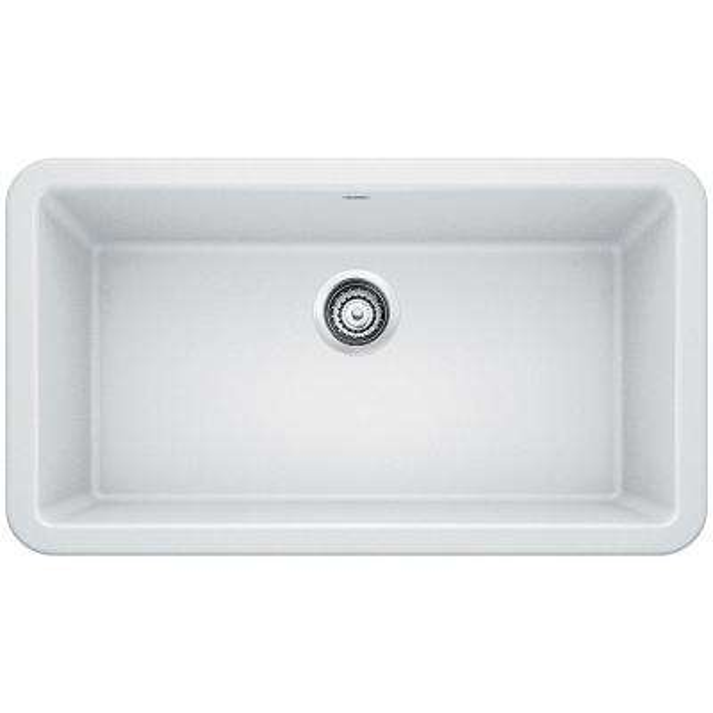 Ikon Apron Front Granite Composite 32 in. Single Bowl Kitchen Sink in White