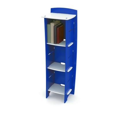 Kid's Bookcase with 3 Shelves in Race Car Collection Blue and White