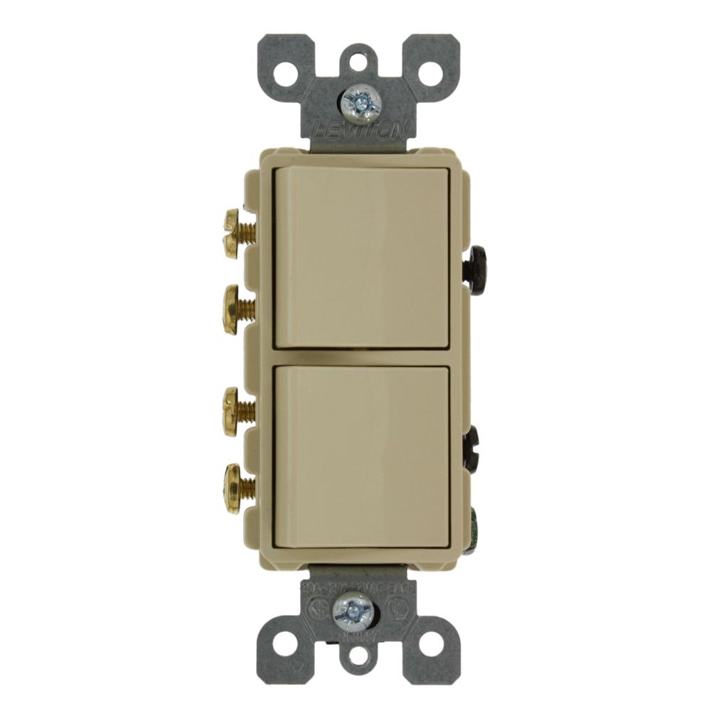 Pull Chain Light Switches Wiring Devices Controls The Is A 4 Way Switch Dpdt 20 Amp Decora Commercial Grade Combination Two 3 Rocker Ivory
