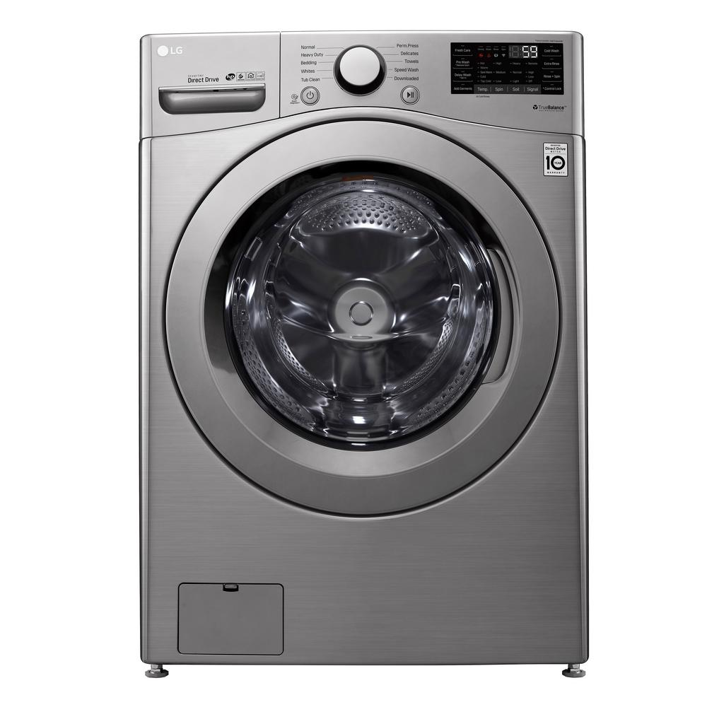 LGElectronics LG Electronics 4.5 cu. ft. Graphite Steel Ultra Large Smart Front Load Washer with ColdWash, 6Motion and TrueBalance