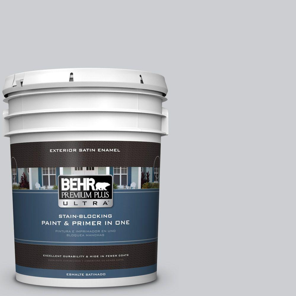 5 gal. #770E-2 Silver Screen Color Satin Enamel Exterior Paint