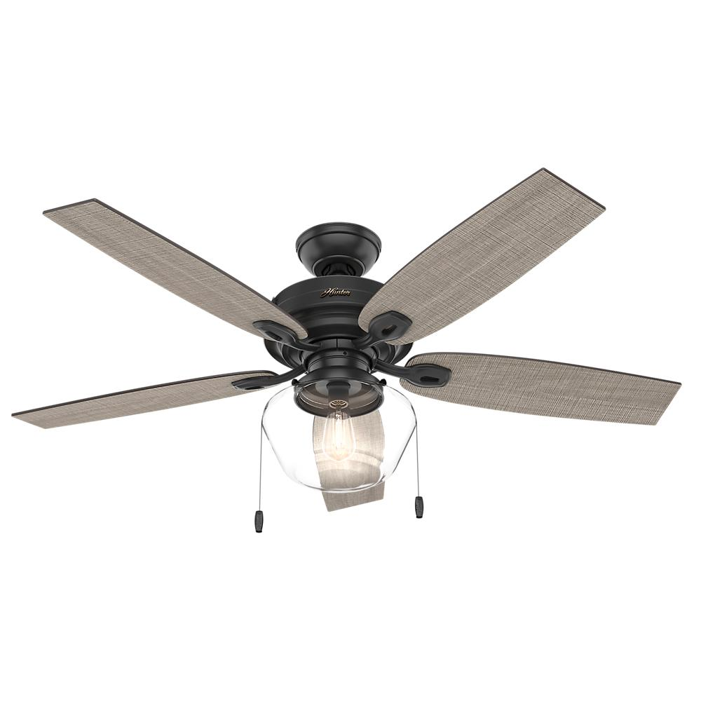 Crown Canyon 52 in. LED Indoor/Outdoor Matte Black Ceiling Fan with