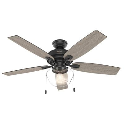 d2cfe99df57 Hunter Ronan 52 in. LED Indoor Matte Black Ceiling Fan with Light ...