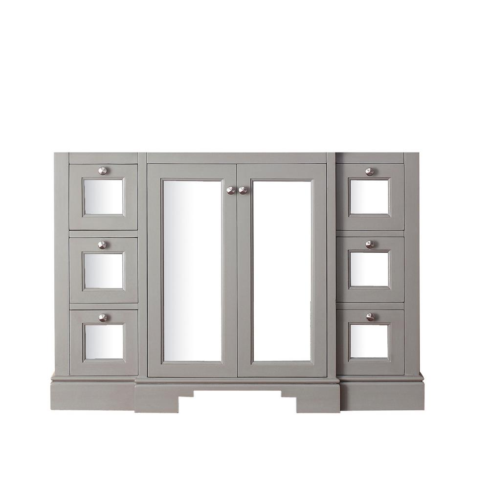 Avanity Newport 48 in. Vanity Cabinet Only in French Gray-NEWPORT ...