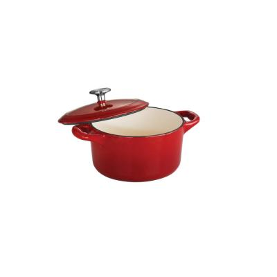 Gourmet 24 oz. Round Cast Iron Mini Cocotte