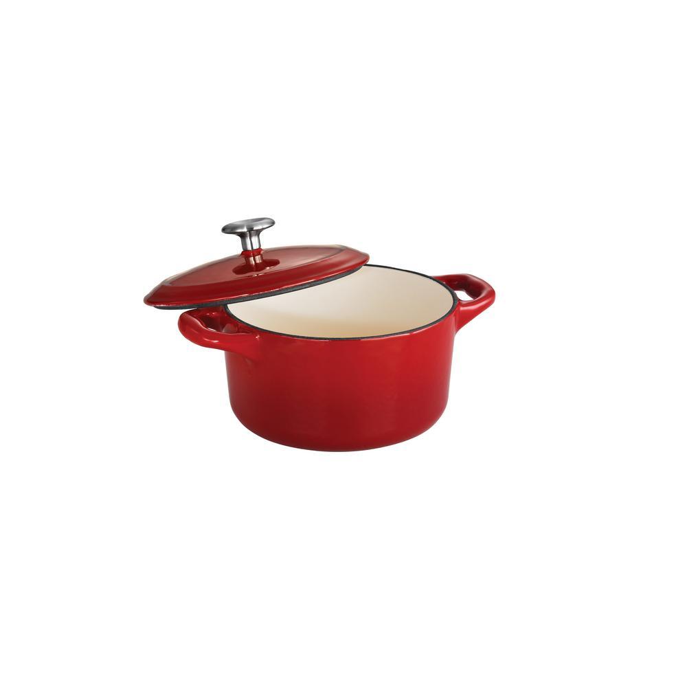 Gourmet 24 oz. Round Cast Iron Mini Cocotte