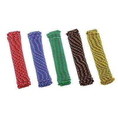 3/8 in. x 100 ft. Assorted Colors Polypropylene Diamond Braid Rope