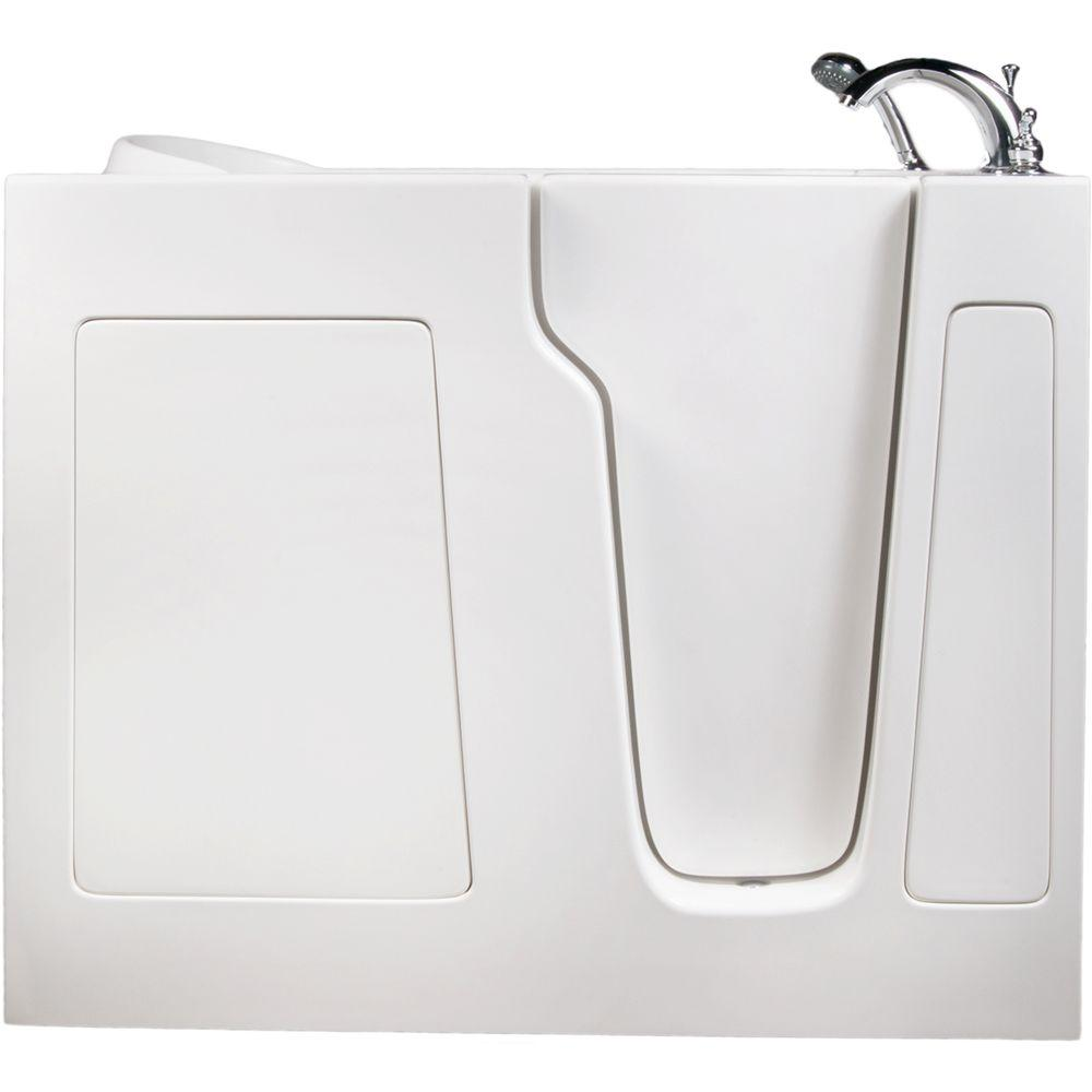Allure Walk In Tubs 3.83 ft. Right-Drain Walk-In Whirlpool and Air Bath Tub in White
