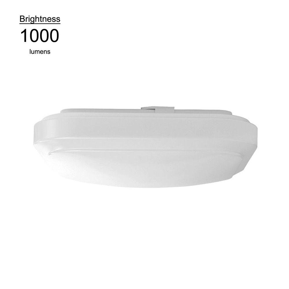 Hampton Bay 12 in. Bright White Square LED Flushmount Ceiling Light Fixture Dimmable