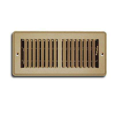 4 in. x 10 in. Brown Mobile Home Floor Diffuser