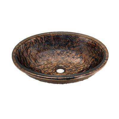 Undermount Bathroom Sink in Cobalt Copper