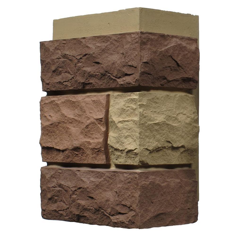 Random Rock Tri Sedona Red 11 in. x 7 in. Faux Stone Siding Corner (4-Pack)