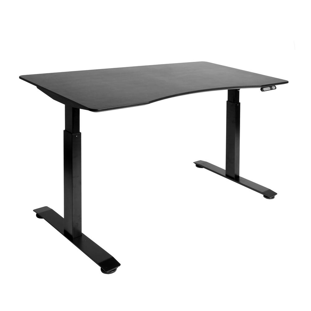 AIRLIFT S2 Black Electric Standing Desk with Black Top, 4 Memory