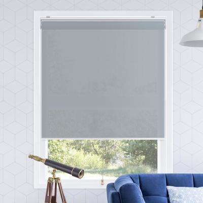 Snap-N'-Glide Urban Grey Polyester Cordless Horizontal Roller Shades - 35 in. W x 72 in. L