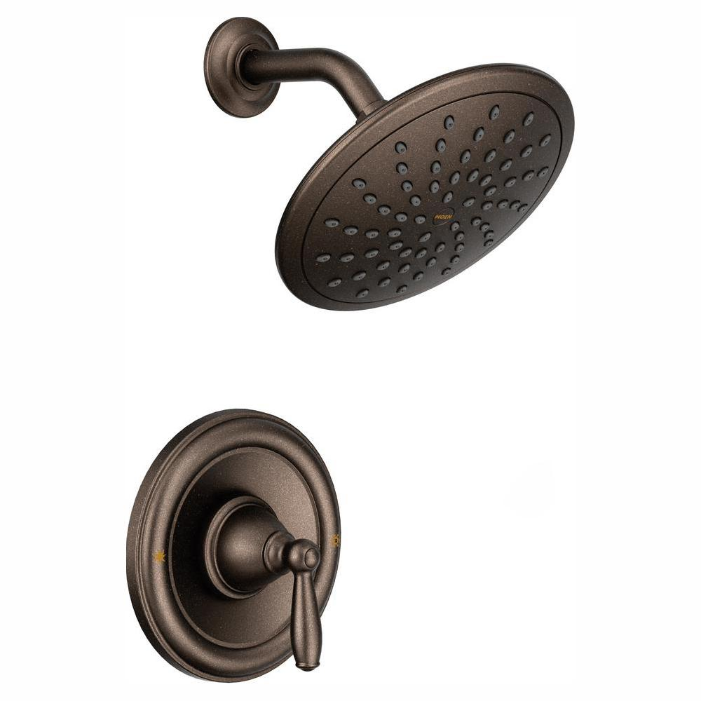 MOEN Brantford Posi-Temp Rain Shower 1-Handle Shower Only Faucet Trim Kit in Oil Rubbed Bronze (Valve Not Included)