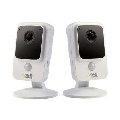 4K Wi-Fi Cube Camera with Night Vision (2-Pack)