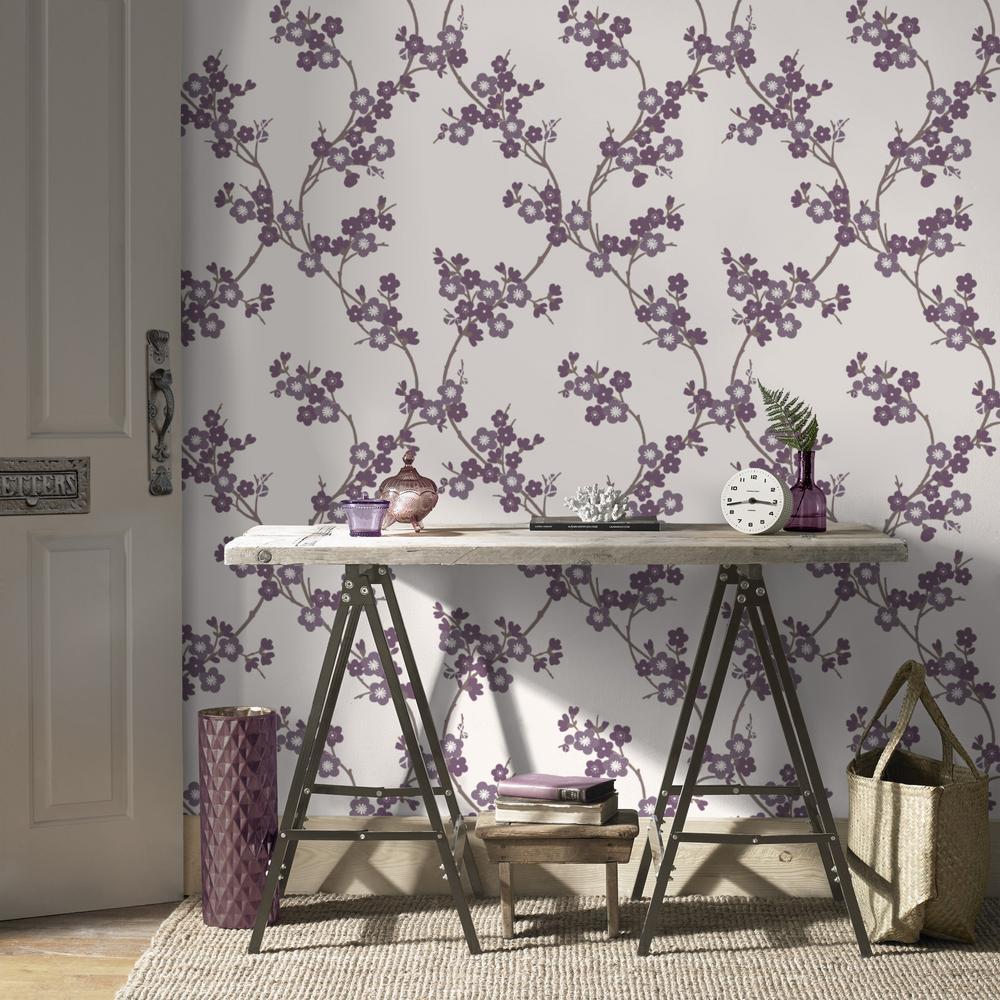 Plum Cherry Blossom Wallpaper