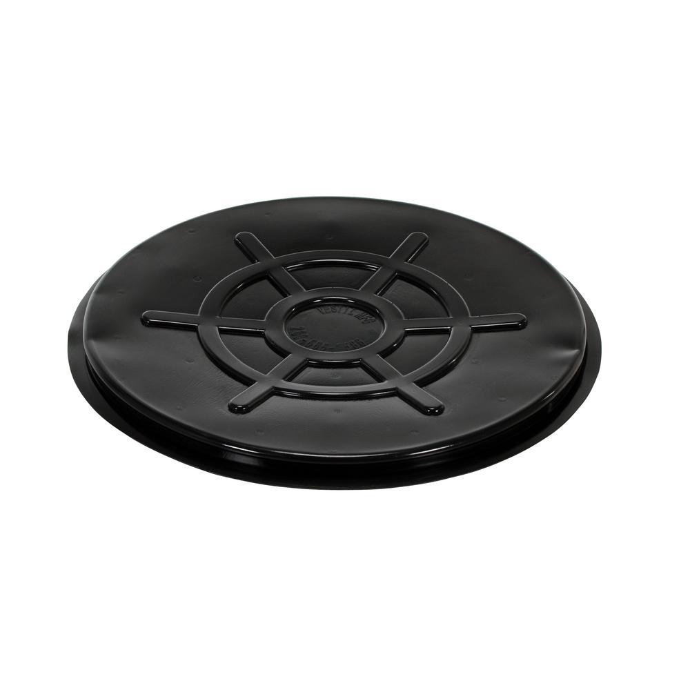 55 Gal. Drum Black Plastic Cover Close Head