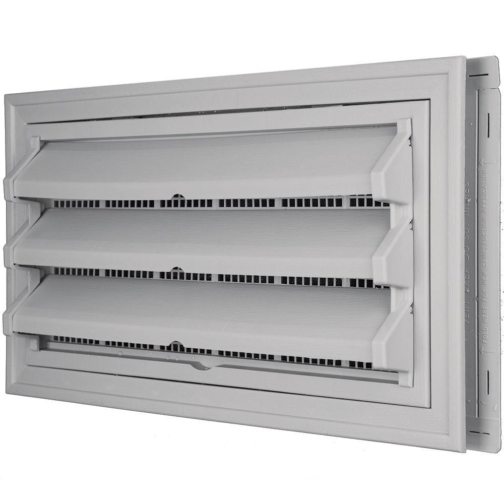 Builders Edge 9-3/8 in. x 17-1/2 in. Foundation Vent Kit ...