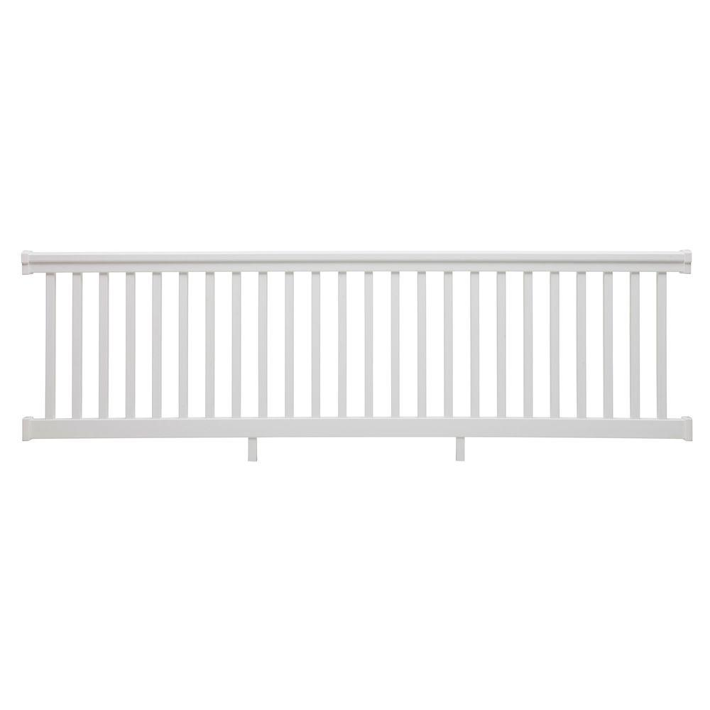 TAM-RAIL 10 ft. x 42 in. PVC White Straight Rail Kit with Square Balusters