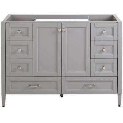 Claxby 48 in. W x 21.61 in. D x 34.41 in. H Bath Vanity Cabinet Only in Sterling Gray