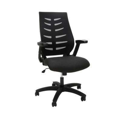 Core Collection Black Mid-Back Mesh Office Chair for Computer Desk