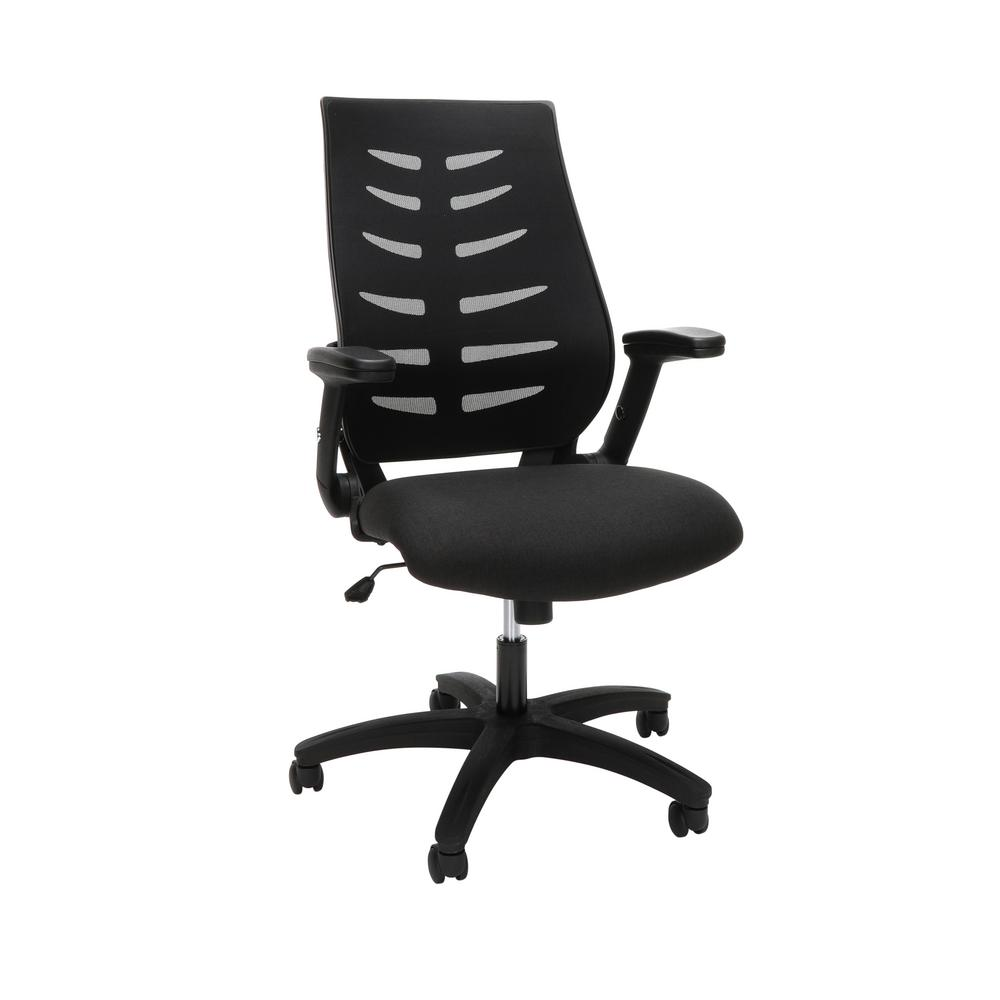 OFM Core Collection Black Mid-Back Mesh Office Chair for Computer  Desk-48-BLK - The Home Depot